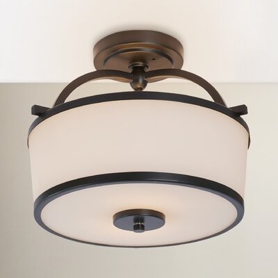 Camacho 2-Light Metal Semi Flush Mount