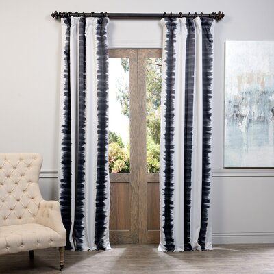 Mercury Row Gulf Gate Striped Blackout Thermal Pinch Pleat Single Curtain Panel | 50 Nautical Inspired Ideas For Home Decor | Inexpensive Nautical Decor | DIY Home Decor | theMRSingLink