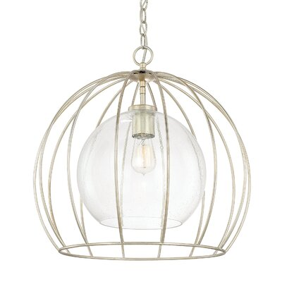 Aarons 1-Light Bowl Pendant Size: 19.5 H x 20 W x 20 D