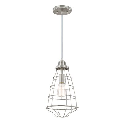 Abdallah 1-Light Pendant Finish: Brushed Nickel