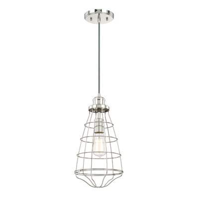 Abdallah 1-Light Pendant Finish: Polished Nickel