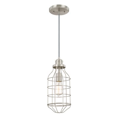 Abbott Way 1-Light Pendant Finish: Brushed Nickel