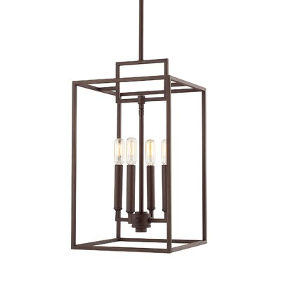 Abrego 4-Light Foyer Pendant Finish: Oil Rubbed Bronze