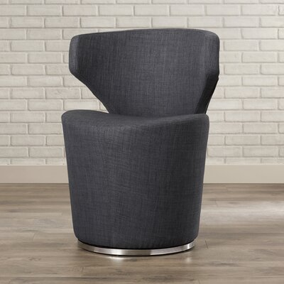 Barrier Fabric Side Chair Color: Charcoal