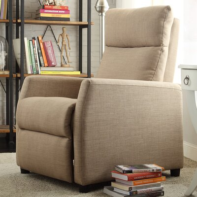 Phoibos Recliner Upholstery: Light Brown Linen