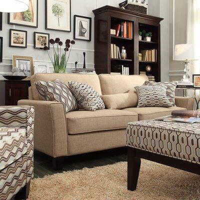 Keenan Oliver Sofa Upholstery: Tan