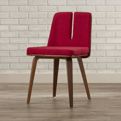 Atnip Unique Side Chair Upholstery: Red