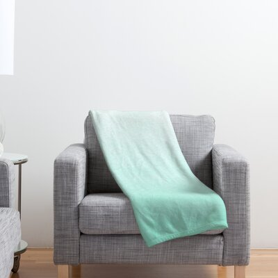 Mint Ombre Throw Blanket Size: 80 H x 60 W