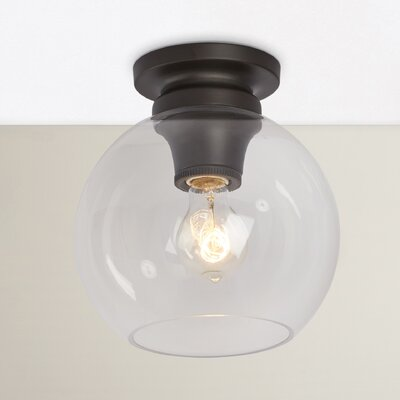 Asellus 1-Light Flush Mount Finish: Oil Rubbed Bronze