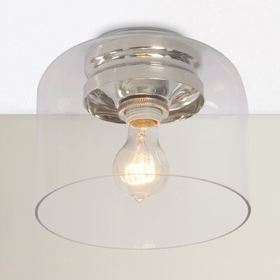 Nolan 1-Light Flush Mount Finish: Polished Nickel