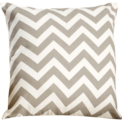 Bollin Chevron 100% Cotton Throw Pillow Color: Gray