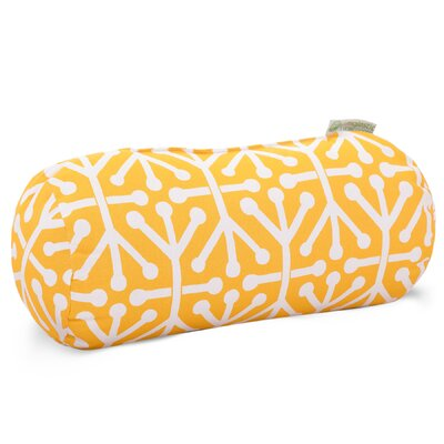 Nerys Indoor/Outdoor Round Bolster Pillow Color: Citrus