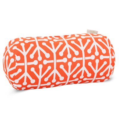 Nerys Indoor/Outdoor Round Bolster Pillow Color: Orange