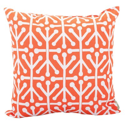 Nerys Indoor/Outdoor Throw Pillow Fabric: Orange, Size: Large