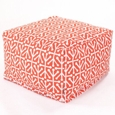 Nerys Modern Ottoman with Cushion Fabric: Orange