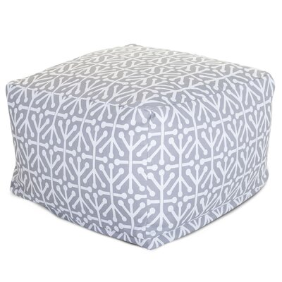 Nerys Modern Ottoman with Cushion Fabric: Gray