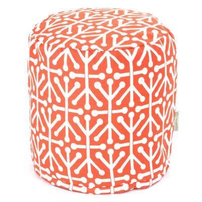 Nerys Ottoman with Cushion Fabric: Orange
