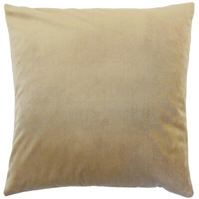 Markos Velvet Throw Pillow Color: Latte, Size: 18 x 18