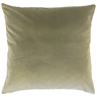 Markos Velvet Throw Pillow Color: Oak, Size: 20 x 20