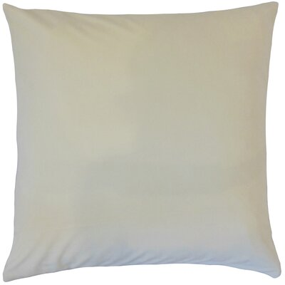 Markos Velvet Throw Pillow Color: Pearl, Size: 18 x 18