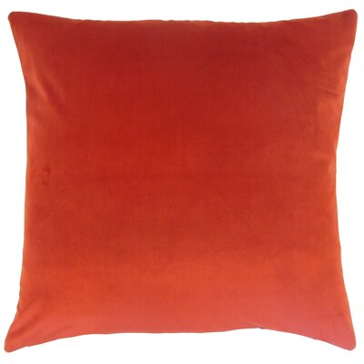 Markos Velvet Throw Pillow Color: Salsa, Size: 20 x 20