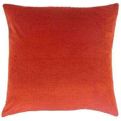 Markos Velvet Throw Pillow Color: Salsa, Size: 18 x 18
