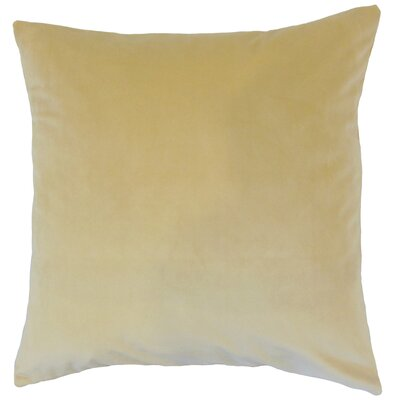 Markos Velvet Throw Pillow Color: Sand, Size: 18 x 18