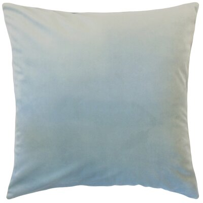 Markos Velvet Throw Pillow Color: Sky Blue, Size: 20 x 20