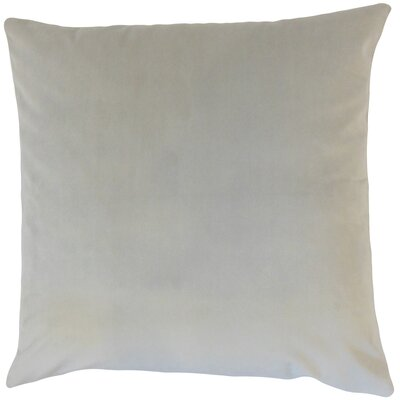 Markos Velvet Throw Pillow Color: Smoke, Size: 18 x 18