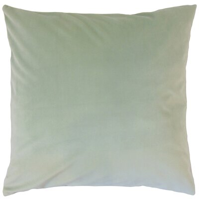 Markos Velvet Throw Pillow Color: Spa, Size: 20 x 20