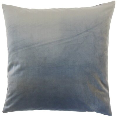 Markos Velvet Throw Pillow Color: Steel, Size: 18 x 18