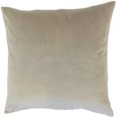 Markos Velvet Throw Pillow Color: Tan, Size: 18 x 18