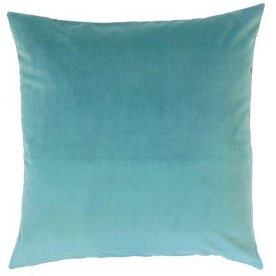 Markos Velvet Throw Pillow Color: Turquoise, Size: 18 x 18