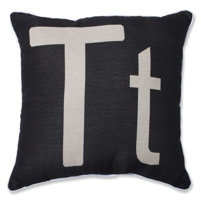 Appling Initial Throw Pillow Letter: T