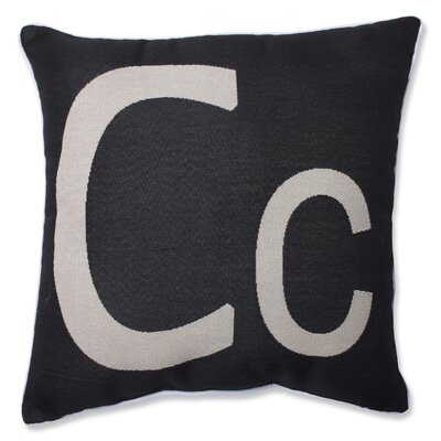 Appling Initial Throw Pillow Letter: C