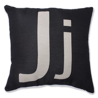 Appling Initial Throw Pillow Letter: J