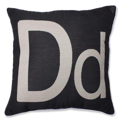 Appling Initial Throw Pillow Letter: D