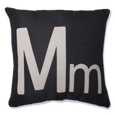 Appling Initial Throw Pillow Letter: M