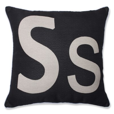 Appling Initial Throw Pillow Letter: S