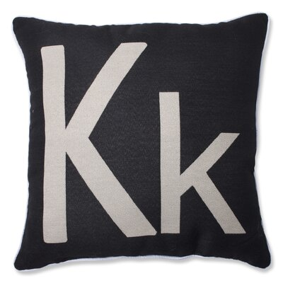 Appling Initial Throw Pillow Letter: K