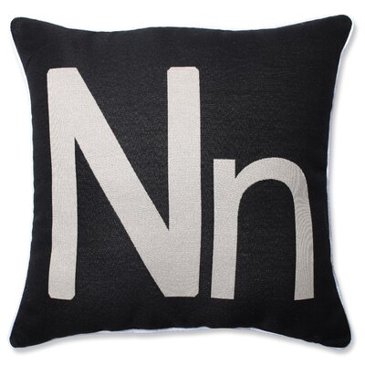 Appling Initial Throw Pillow Letter: N