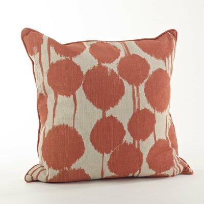 Agee Inkblot Design Cotton Throw Pillow Color: Tangerine