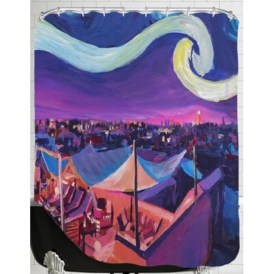 Starry Night in Marrakech Shower Curtain