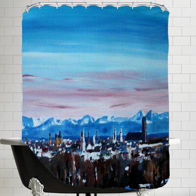 Snow Covered Winter Munich Shower Curtain