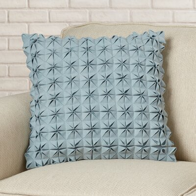 Mcculley Wool Throw Pillow Size: 18 H x 18 W x 4 D, Color: Aqua