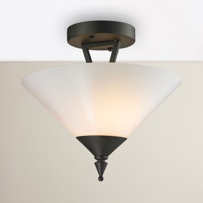 Abrielle 2-Light Semi Flush Mount Finish: Oil Rubbed Bronze