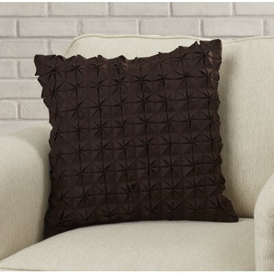 Wool Throw Pillow Size: 22 H x 22 W x 4 D, Color: Black