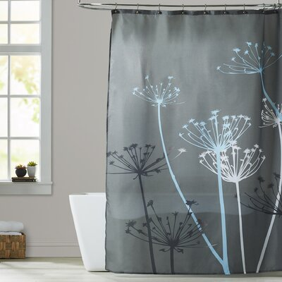Vivian Thistle Shower Curtain Color: Gray/Blue