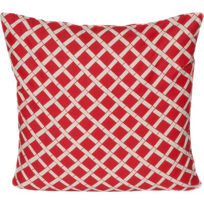 Cade Outdoor Throw Pillow Color: Red
