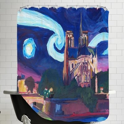 Starry Night in Paris Shower Curtain